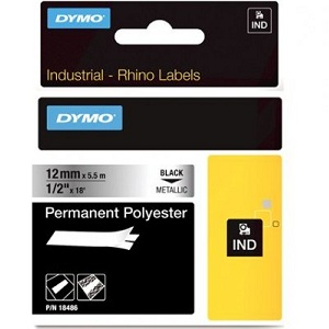 Dymo 18486 Permanent Polyester Labels