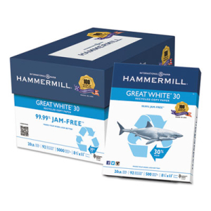 Hammermill 86700 Great White 30 Recycled Copy Paper