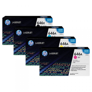 HP 646 Toner Cartridge Bundle