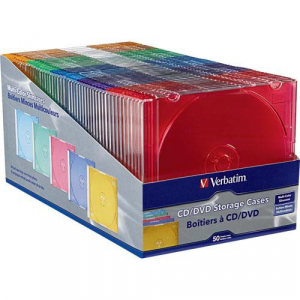 Verbatim 94178 CD DVD Color Slim Cases