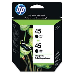 HP C6650FN Black Ink Cartridge Twin Pack