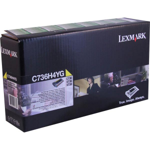 Lexmark C736H4YG Yellow Toner Cartridge for US Government
