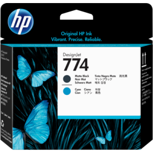 HP P2W01A Matte Black and Cyan Printhead