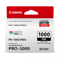 Canon PFI-1000PBK Photo Black Ink Tank (0546C002)