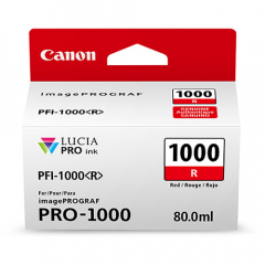 Canon PFI-1000R Red Ink Tank (0554C002)