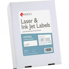 MACO White Laser/Ink Jet Address Label (ML3000B)
