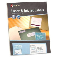 MACO Laser/Ink Jet White UPC Labels (ML5000)