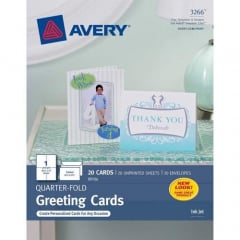 Avery Inkjet Print Greeting Card (3266)