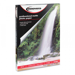 Innovera Heavyweight Photo Paper, 11 mil, 8.5 x 11, Matte White, 50/Pack (99650)