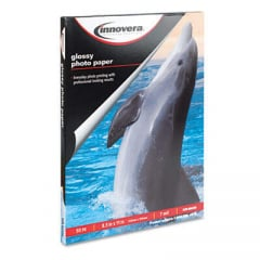 Innovera Glossy Photo Paper, 7 mil, 8.5 x 11, Glossy White, 50/Pack (99450)