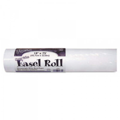 "Pacon Easel Rolls, 35lb, 18"" x 75ft, White (4775)"