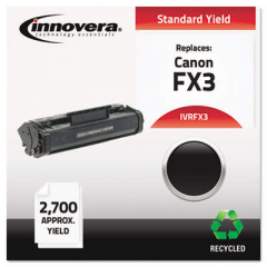 Innovera Black Toner Cartridge, Replacement for Canon FX3 (1557A002BA), 2,700 Page-Yi