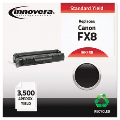 Innovera Black Toner Cartridge, Replacement for Canon FX8 (8955A001AA), 3,500 Page-Yi