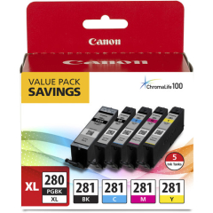 Canon PGI-280 XL CLI-281 5 Color Value Pack