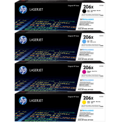 HP 206X High Yield Toner Cartridge Set