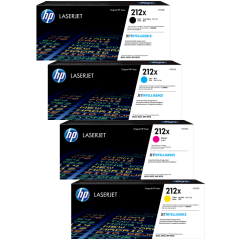 HP 212X High Yield Toner Cartridge Set