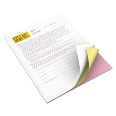 Xerox Revolution Carbonless 3-Part Paper, 8.5 x 11, Pink/Canary/White, 5, 010/Carton (3R12424)