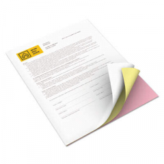 Xerox Revolution Carbonless 3-Part Paper, 8.5 x 11, Canary/Pink/White, 2, 505/Carton (3R12426)