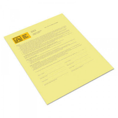 Xerox Revolution Digital Carbonless Paper, 1-Part, 8.5 x 11, Canary, 500/Ream (3R12437)
