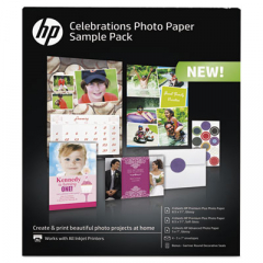 HP K0A21A Celebration Photo Paper Sample Pack
