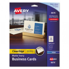 Avery 8876 Premium Clean Edge Business Cards