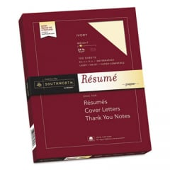 Southworth R14ICF 100% Cotton Resume Paper