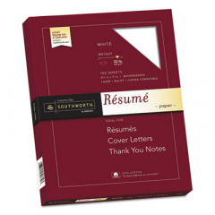 Southworth RD18CF 100% Cotton Resume Paper