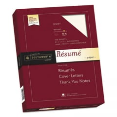 Southworth RD18ICF 100% Cotton Resume Paper