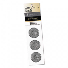 "Southworth Certificate Seals, 1.75"" dia., Silver, 3/Sheet, 5 Sheets/Pack (99293)"