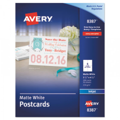 Avery 8387 Printable Postcards