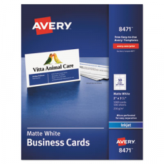Avery 8471 Standard Printable Microperforated Business Cards