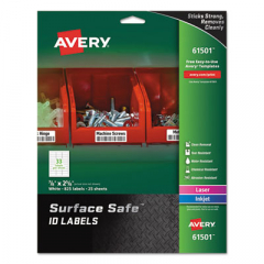 Avery 61501 Surface Safe ID Labels