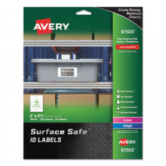 Avery 61503 Surface Safe ID Labels