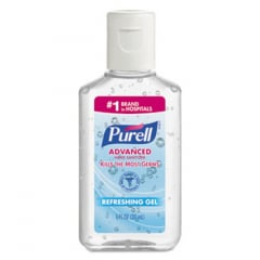 Purell Advanced Hand Sanitizer Refreshing Gel, Clean Scent, 1 oz Bottle, 250/Carton