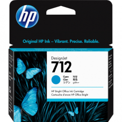 HP 712 Cyan Ink Cartridge (3ED67A)