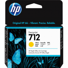HP 712 Yellow Ink Cartridge (3ED69A)