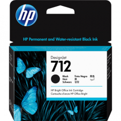 HP 712 Black Ink Cartridge (3ED71A)