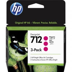 HP 712 3-pack Magenta Ink Cartridge (3ED78A)