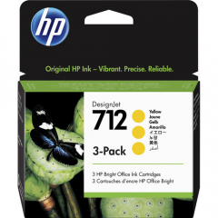 HP 712 3-pack Yellow Ink Cartridge (3ED79A)