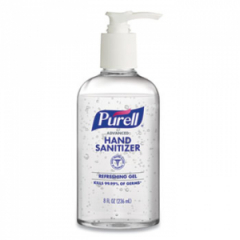 Purell Advanced Hand Refreshing Gel, 8 oz Pump Bottle