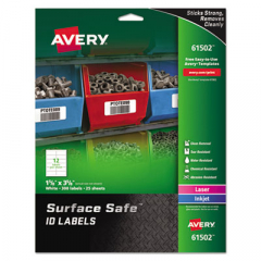 Avery 61502 Surface Safe ID Labels