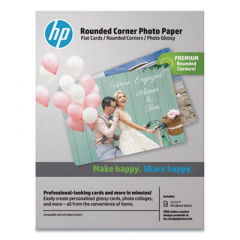 HP 3WL67A Rounded Corner Photo Paper