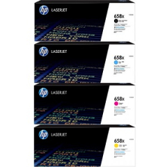 HP 658X Toner Cartridge Set