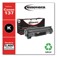 Innovera Black Toner Cartridge, Replacement for Canon 137 (9435B001AA), 2,400 Page-Yi