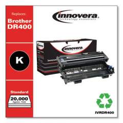 Innovera Black Drum Unit, Replacement for Brother DR400, 20,000 Page-Yield