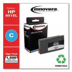 Innovera Cyan High-Yield Ink, Replacement for HP 951XL (CN046AN), 1500 Page Yield (95