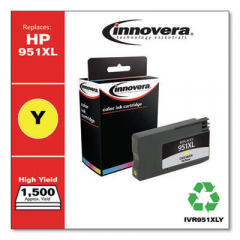 Innovera Yellow High-Yield Ink, Replacement for HP 951XL (CN048AN), 1500 Page Yield (