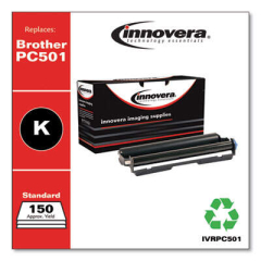 Innovera Compatible Black Thermal Transfer Print Cartridge, Replacement for Brother PC501, 150 Page