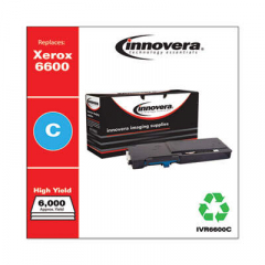 Innovera Cyan High-Yield Toner Cartridge, Replacement for Xerox 6600 (106R02225), 6,0