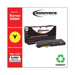 Innovera Yellow High-Yield Toner Cartridge, Replacement for Xerox 6600 (106R02227), 6